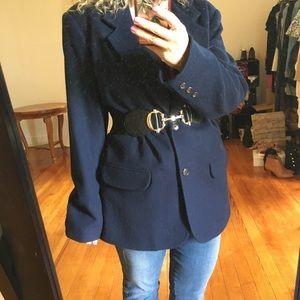 Vintage 100% Wool Oversized Blazer Eddie Bauer
